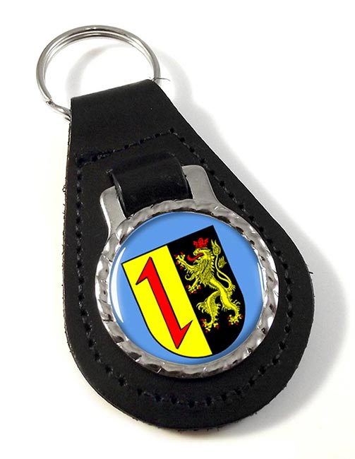 Mannheim (Germany) Leather Key Fob