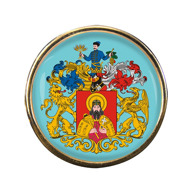 Miskolc Round Pin Badge