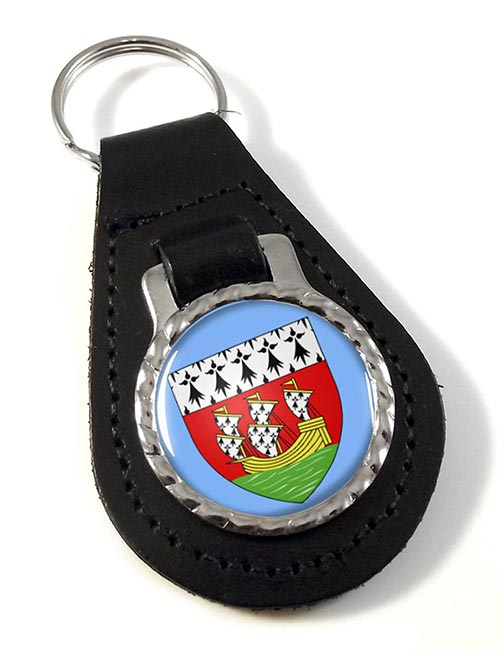 Nantes (France) Leather Key Fob
