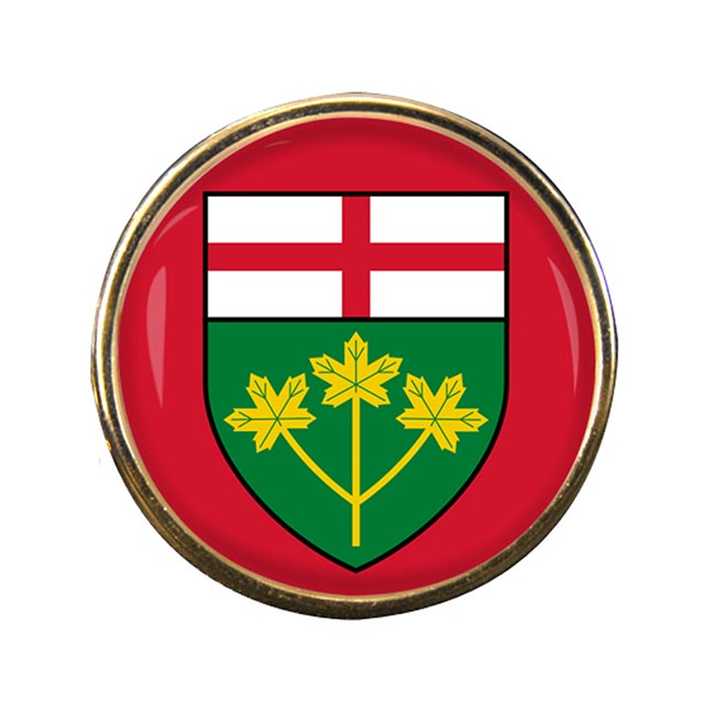 Ontario (Canada) Round Pin Badge