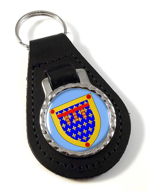 Pas-de-Calais (France) Leather Key Fob