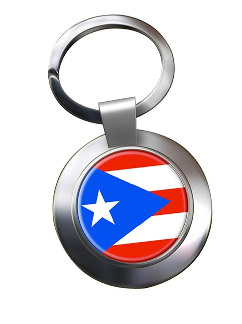 Puerto Rico Metal Key Ring