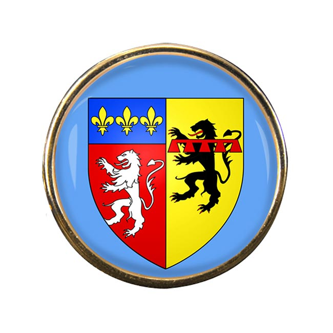 Rhone (France) Round Pin Badge