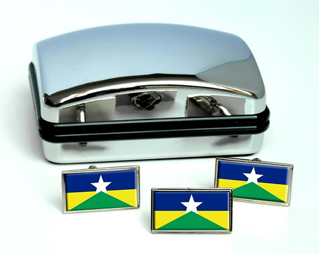Rondonia (Brasil) Flag Cufflink and Tie Pin Set