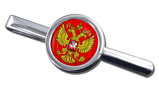 Russian Coat of arms Round Tie Clip