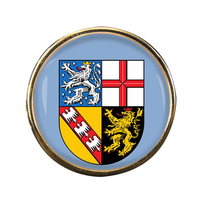 Saarland (Germany) Round Pin Badge