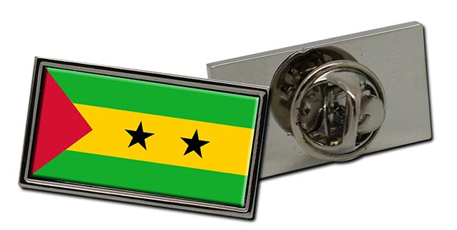 Sao Tome e Principe Flag Pin Badge
