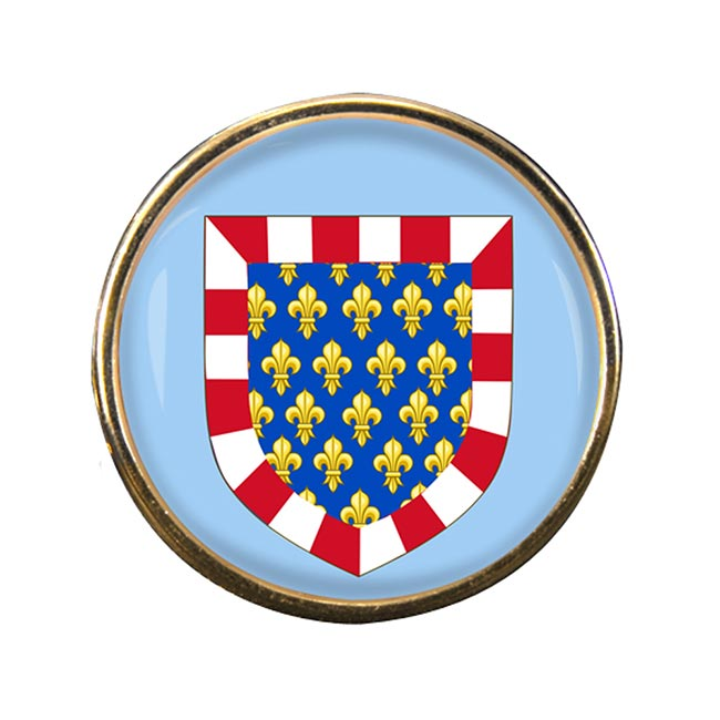 Touraine (France) Round Pin Badge