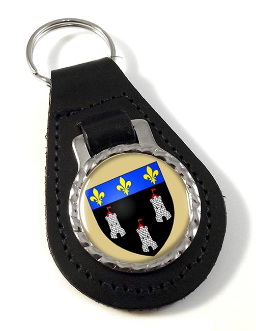 Tours (France) Leather Key Fob