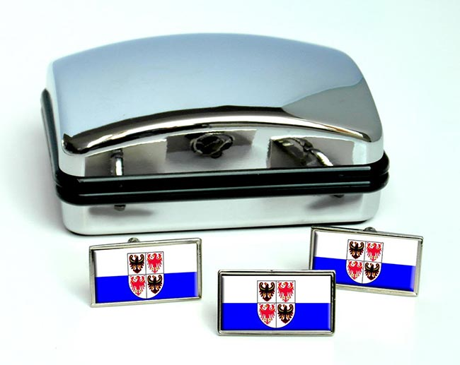 Trentino-Alto Adige, (Italy) Flag Cufflink and Tie Pin Set