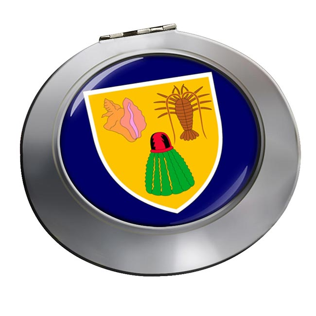 Turks and Caicos Islands Round Mirror