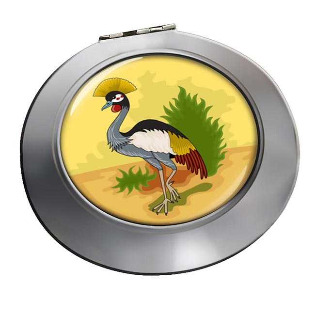 Uganda Badge Round Mirror