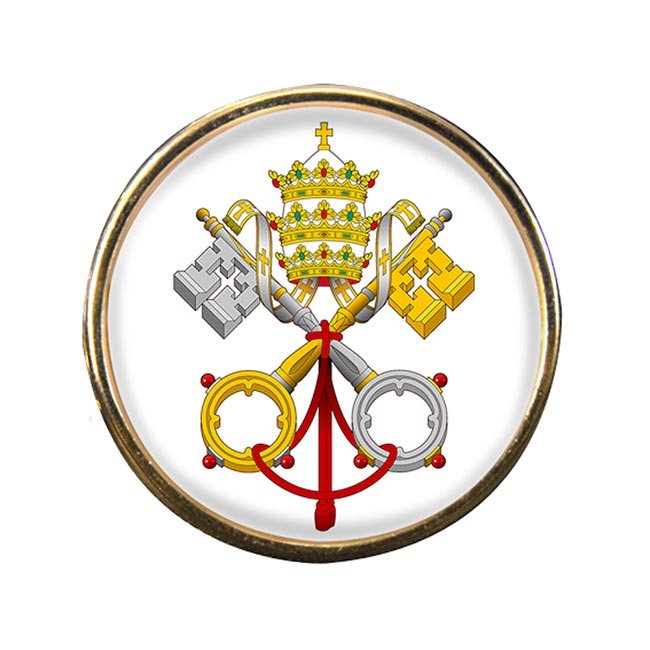 Vatican City Round Pin Badge