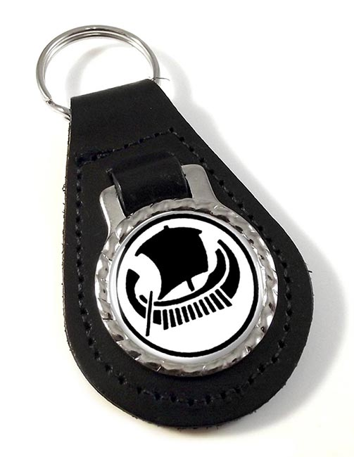 Volos  (Greece) Leather Key Fob