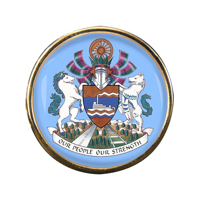 Whitehorse (Canada) Round Pin Badge