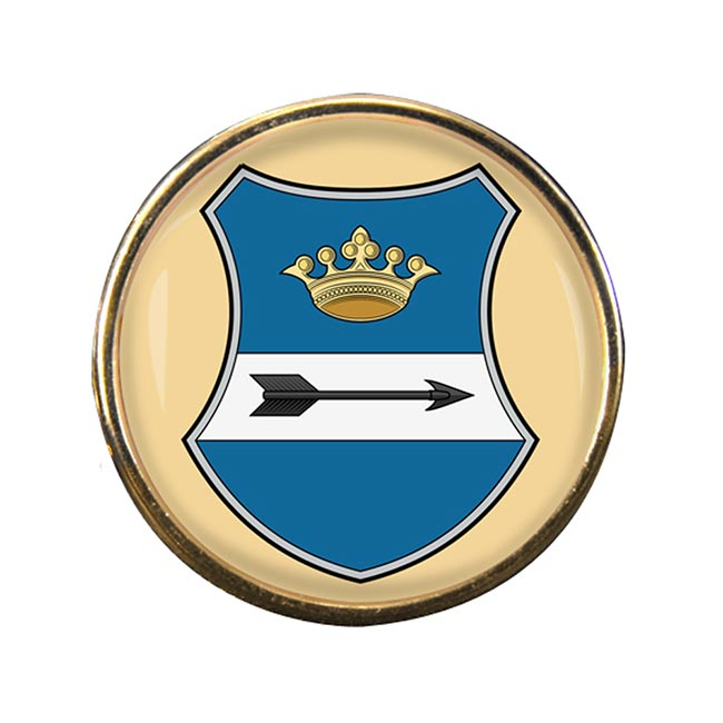 Zala Round Pin Badge