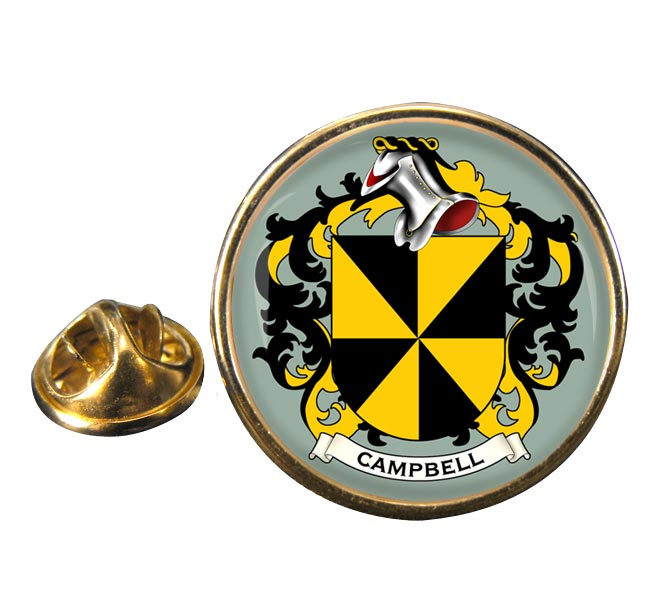 Campbell of Argyll Coat of Arms Round Pin Badge