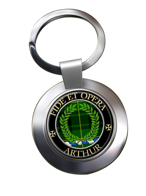 Arthur Ancient Scottish Clan Chrome Key Ring
