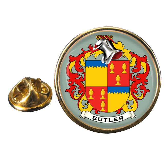 Butler Coat of Arms Round Pin Badge