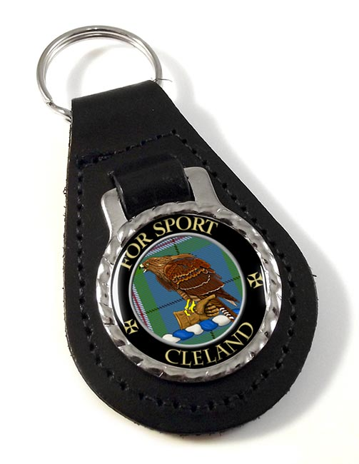 Cleland Scottish Clan Leather Key Fob