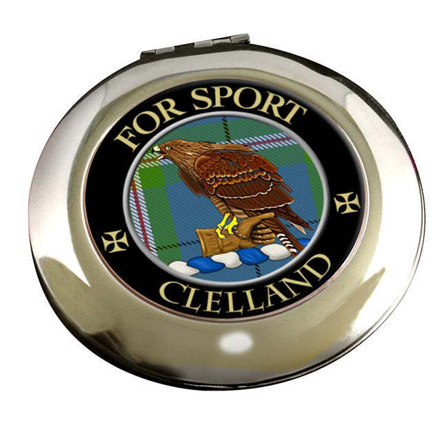 Clelland Scottish Clan Chrome Mirror