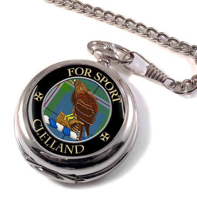 Clelland Scottish Clan Pocket Watch