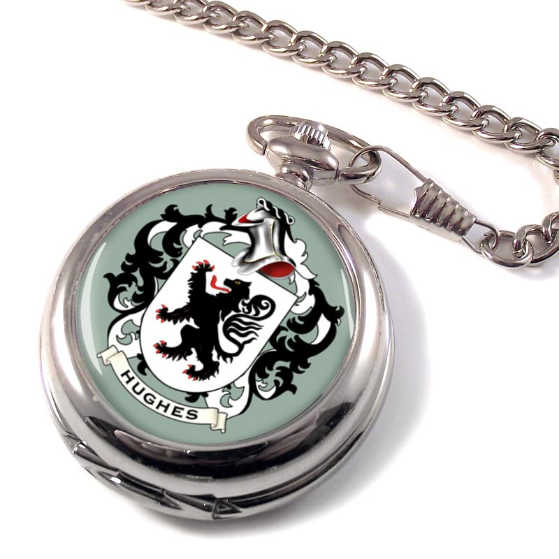 Hughes Coat of Arms Pocket Watch