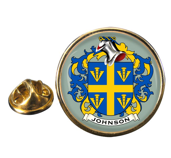 Johnson Coat of Arms Round Pin Badge