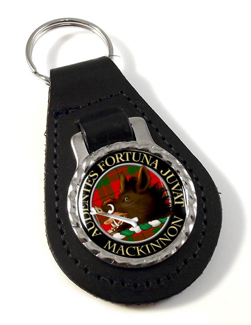 Mackinnon Scottish Clan Leather Key Fob