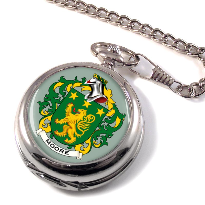 Moore Irish Coat of Arms Pocket Watch