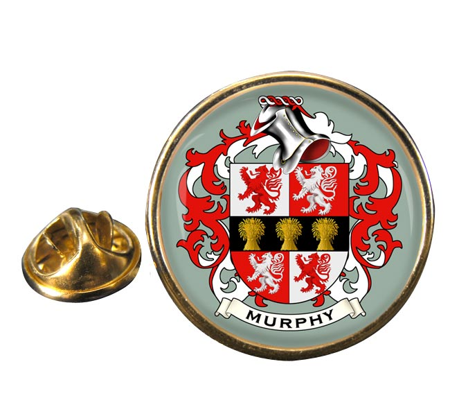 Murphy Coat of Arms Round Pin Badge