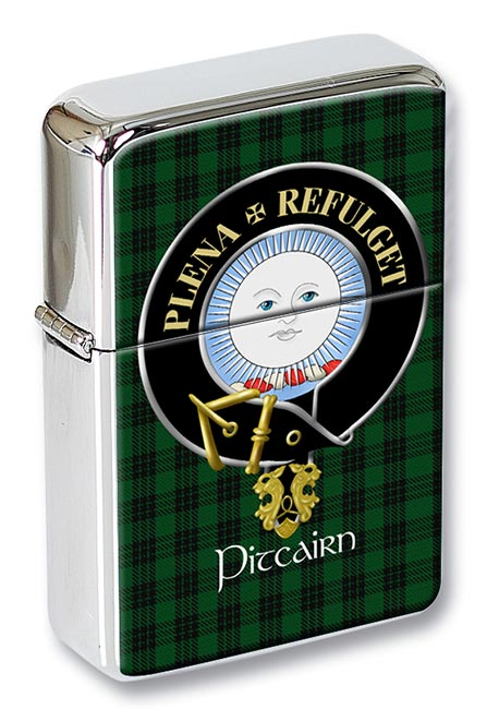 Pitcairn Scottish Clan Flip Top Lighter