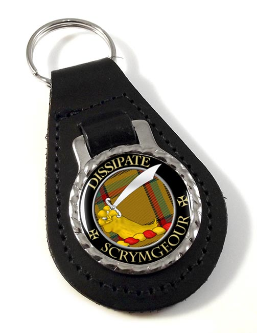 Scrymgeour Scottish Clan Leather Key Fob