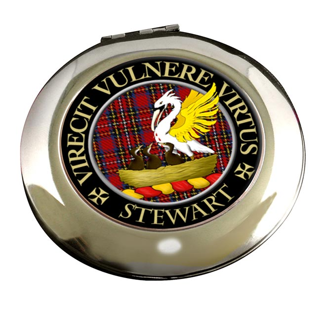 Stewart Scottish Clan Chrome Mirror