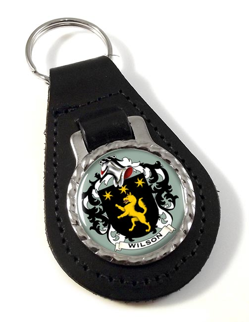 Wilson Coat of Arms Leather Key Fob