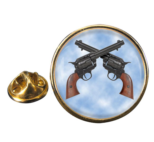 Colt 45 Peacemaker Round Pin Badge