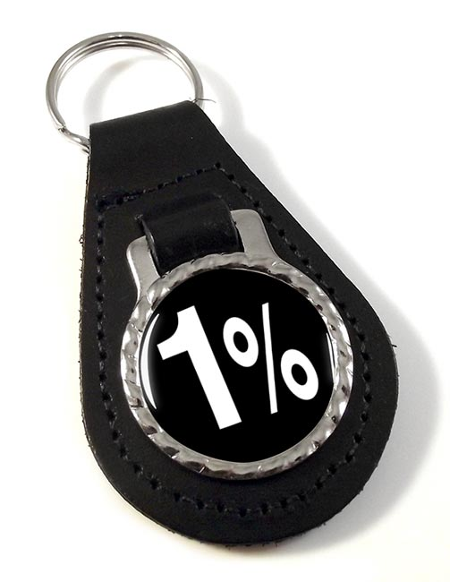 Outlaw Biker 1% Leather Key Fob