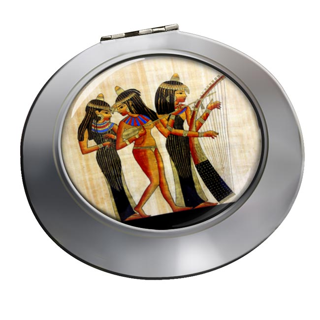Ancient Egyptian Musicians Chrome Mirror