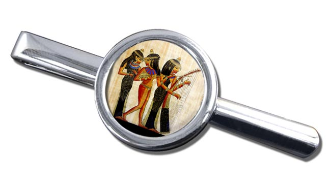 Ancient Egyptian Musicians Round Tie Clip