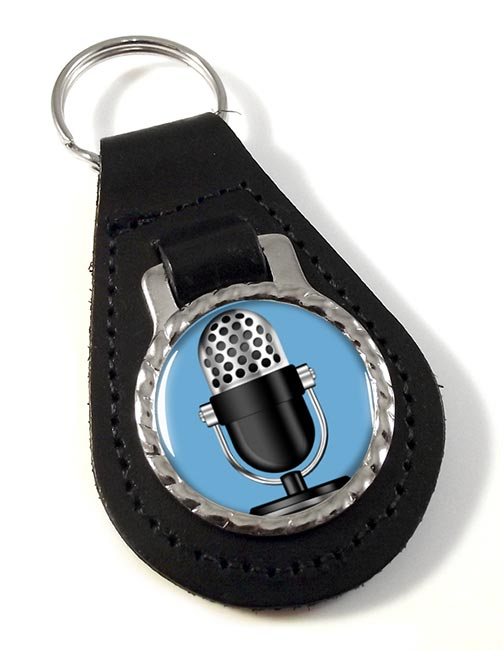 Microphone Leather Key Fob