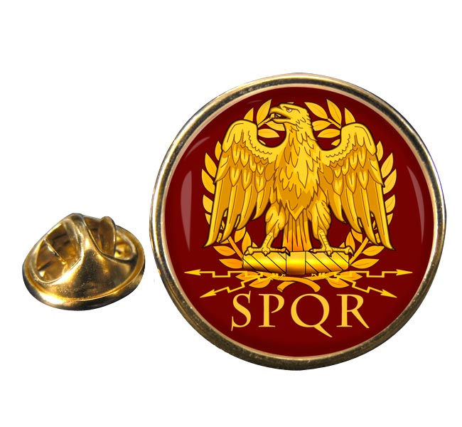 Roman Standard Round Pin Badge