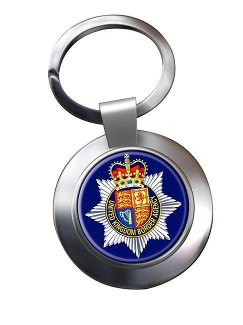 UK Border Agency Chrome Key Ring