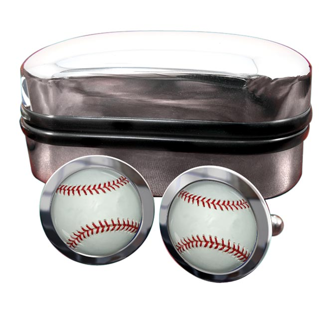 Baseball Ball Round Cufflinks