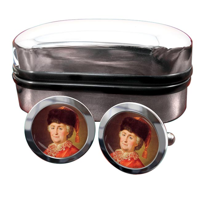 Catherine the Great Round Cufflinks