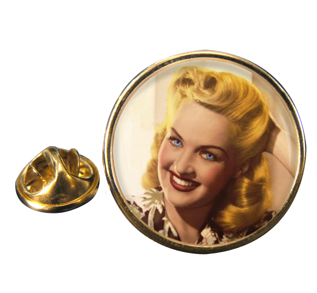 Betty Grable Round Pin Badge