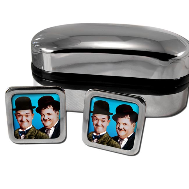 Laurel and Hardy Square Cufflinks