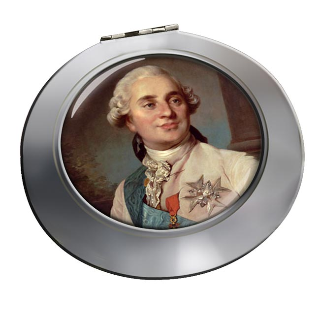 King Louis XVI of France Chrome Mirror