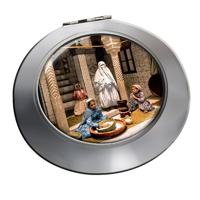 Moorish Women Chrome Mirror