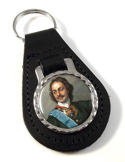 Peter the Great Leather Key Fob