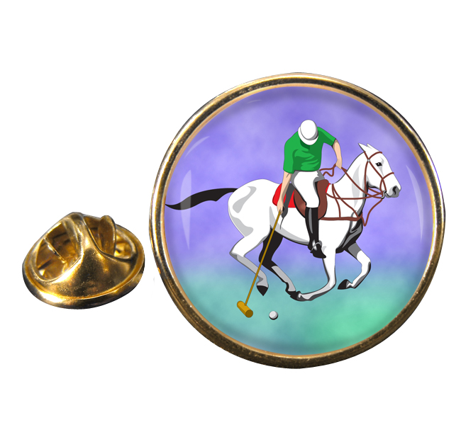 Polo Round Pin Badge